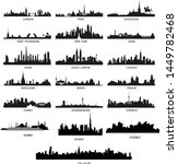 city scapes set vector format  | Shutterstock .eps vector #1449782468