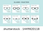 set of glasses  icon  glasses... | Shutterstock .eps vector #1449820118