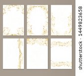 vector set of cards with golden ... | Shutterstock .eps vector #1449823658