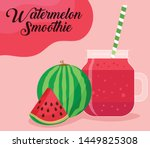 fresh fruit juice   watermelon... | Shutterstock .eps vector #1449825308