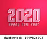 new year 2020 creative design... | Shutterstock . vector #1449826805
