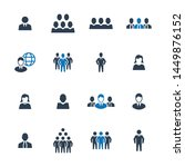 business people icons   blue... | Shutterstock .eps vector #1449876152
