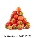 Ripe Strawberries Pile Heap...