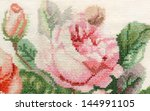 detail rose embroidery | Shutterstock . vector #144991105