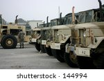 Army Trucks Parked