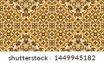 seamless pattern based on... | Shutterstock .eps vector #1449945182