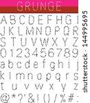 grunge alphabet  font set | Shutterstock . vector #144995695