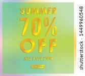 summer discount 70  off.blurred ... | Shutterstock .eps vector #1449960548