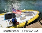close up docked beautiful boat... | Shutterstock . vector #1449964265