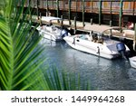 close up docked beautiful boats ... | Shutterstock . vector #1449964268