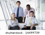 four businesspeople in office... | Shutterstock . vector #14499739