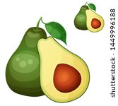avocado 2. cartoon icon... | Shutterstock . vector #1449996188