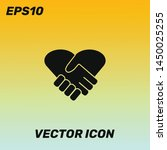 heart handshake vector icon...