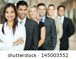 group of business team standing ... | Shutterstock . vector #145003552