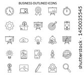 business and seo outlined icons ... | Shutterstock .eps vector #1450035545