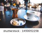 Small photo of Greek Coffee in a Cafe