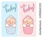 baby shower design. newborn... | Shutterstock .eps vector #1450062152