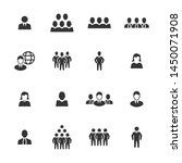 business people icons   gray... | Shutterstock .eps vector #1450071908