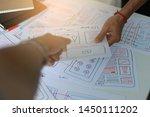 ux designer designing...