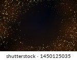 gold glitter powder splash... | Shutterstock .eps vector #1450125035