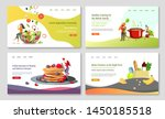set of web page design... | Shutterstock .eps vector #1450185518