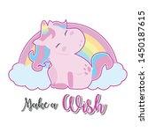 magical unicorn with rainbow ...   Shutterstock .eps vector #1450187615