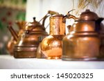 copper pots inside a... | Shutterstock . vector #145020325