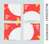 editable post template social... | Shutterstock .eps vector #1450225748