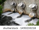 Waste Water Drain Pipe From Th...