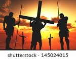 Silhouette Of Jesus From The...