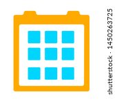 events calendar icon. logo... | Shutterstock .eps vector #1450263725