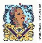 greed. seven deadly sins tattoo ... | Shutterstock .eps vector #1450281485
