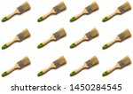 paint brushes background.... | Shutterstock . vector #1450284545