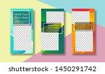 stories banner design for... | Shutterstock .eps vector #1450291742