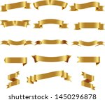 gold ribbon set inisolated... | Shutterstock .eps vector #1450296878