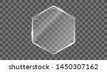 hexagon glass frame vector.... | Shutterstock .eps vector #1450307162