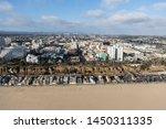 aerial view of broad sandy... | Shutterstock . vector #1450311335