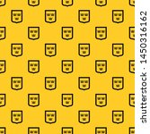 Coat of arms of Sweden pattern seamless vector repeat geometric yellow for any design