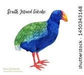 watercolor bird of isolated... | Shutterstock . vector #1450343168