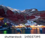 Night Shot Of Ammoudi Bay With...
