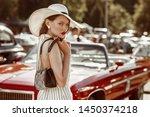 street fashion portrait of...   Shutterstock . vector #1450374218