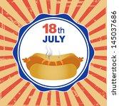 national hot dog day | Shutterstock .eps vector #145037686