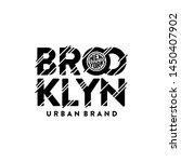 brooklyn urban brand. new york...   Shutterstock .eps vector #1450407902