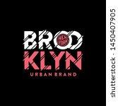 brooklyn urban brand pink....   Shutterstock .eps vector #1450407905