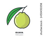 guava fruit icon  outline with... | Shutterstock .eps vector #1450450358
