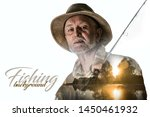 fishing backgrounds. old man... | Shutterstock . vector #1450461932
