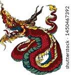 thai asian dragon isolate on... | Shutterstock .eps vector #1450467392