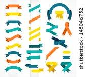 vector set of ribbons | Shutterstock .eps vector #145046752