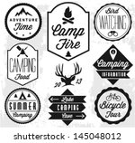 Camping Vector badges and labels in Retro style