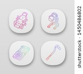 disabled devices app icons set. ...